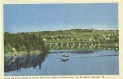 Along the Scenic Route of the St. John River Valley of Grand Falls Postcard