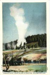 Firehole River, Grand Geyser in Eruption