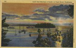 Yacht Club Moorings at Sunset, Puget Sound