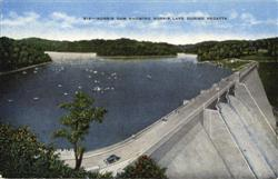 Norris Dam Showing Norris Lake During Regatta