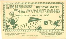 Linnwood Restaurant On The Pymatuning, The Spillway Road