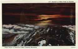 Summit of Pikes Peak at Sunrise Pikes Peak is America's Most Famous Mountain