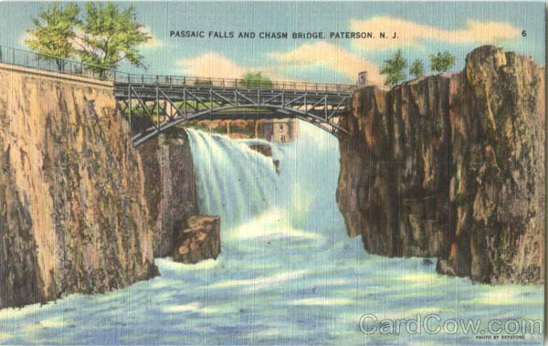 Passaic Falls And Chasm Bridge Paterson New Jersey