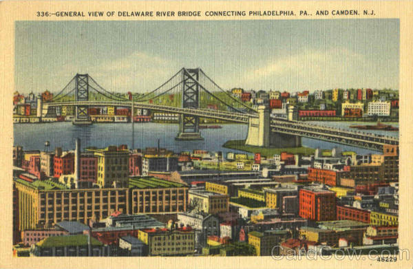 General View Of Delaware River Bridge Philadelphia Pennsylvania