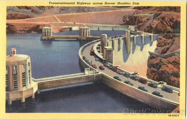 Transcontinental Highway Across Hover Dam Hoover Dam Nevada