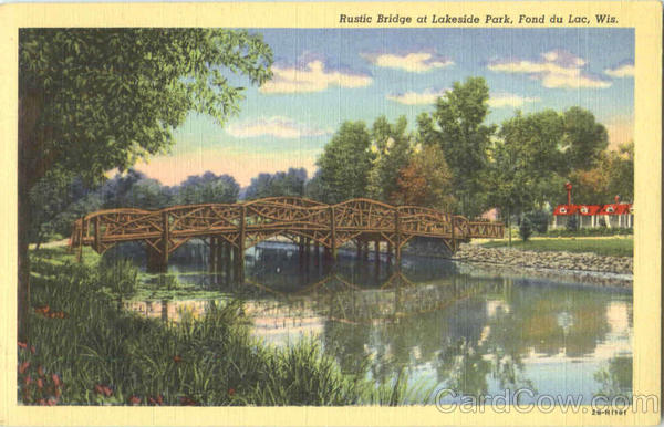 Rustic Bridge, Lakeside Park Fond Du Lac Wisconsin