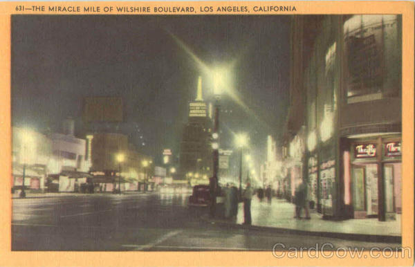 The Miracle Mile Of Wilshire Boulevard Los Angeles California