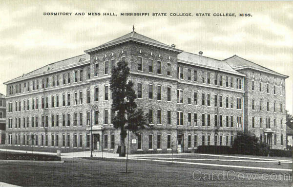 Dormitory And Mess Hall, Mississipi State College Mississippi