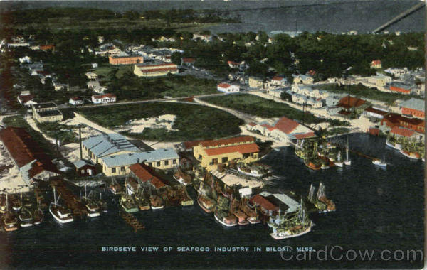 Birdseye View Of Seafood Industry In Biloxi Mississippi