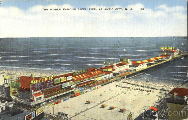 The World Famous Steel Pier Atlantic City New Jersey