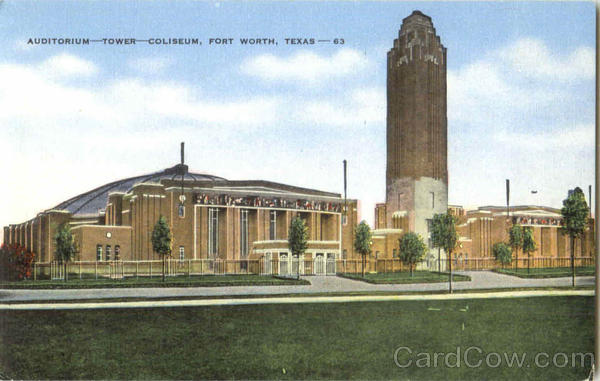Auditorium Tower Coliseum Fort Worth Texas
