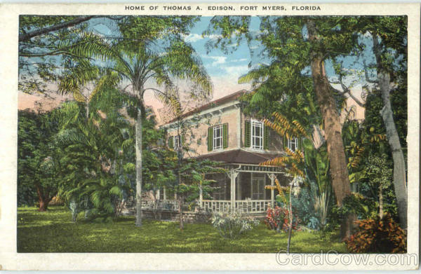 Home Of Thomas A. Edison Fort Myers Florida