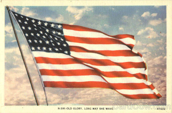 Old Glory Long May She Wave Patriotic