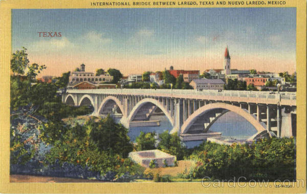 International Bridge Between Laredo, Texas And Nuevo Laredo, Mexico