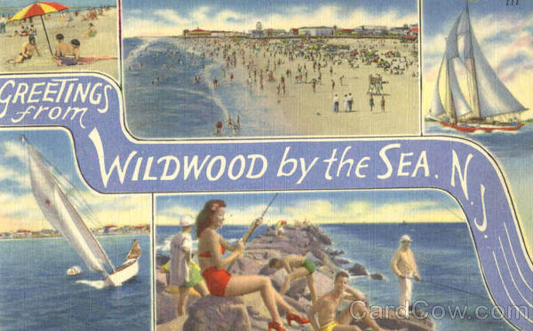 Greetings From Wildwood By The Sea New Jersey