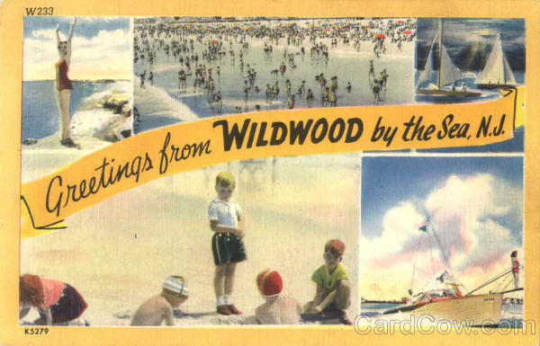 Greetings From The Wildwood By The Sea New Jersey Large Letter