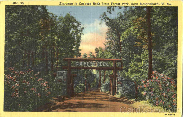 Entrance To Coopers Rock , State Forest Park Morgantown West Virginia