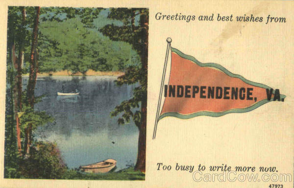 Greetings And Best Wishes From Independence Virginia