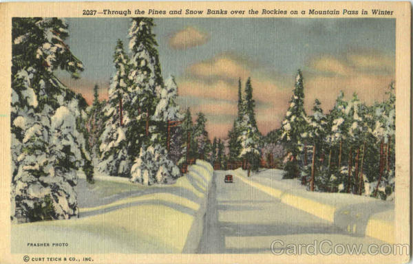 Rocky Mountain Snow Pass in Winter Scenic Colorado