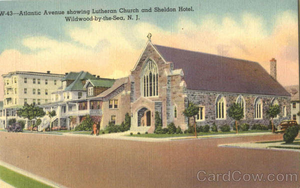 Lutheran Church And Sheldon Hotel, Atlantic Avenue Wildwood-by-the-Sea New Jersey
