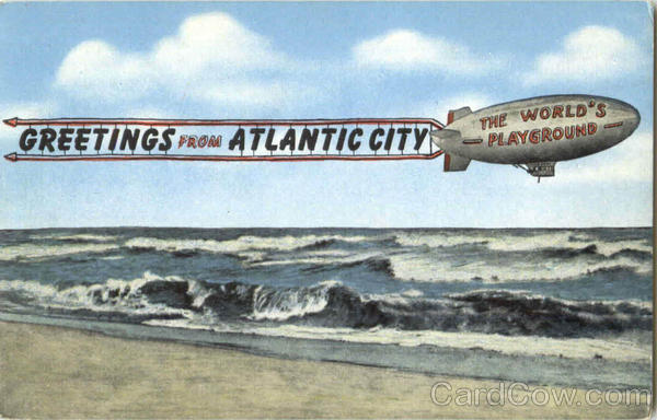 Greetings From Atlantic City New Jersey Aircraft