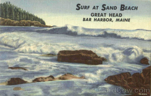 Surf At Sand Beach, Great Head Bar Harbor Maine