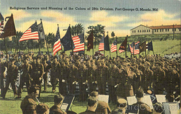 Religious Service And Massing Of The Colors Of 29Th Division Fort Meade Maryland