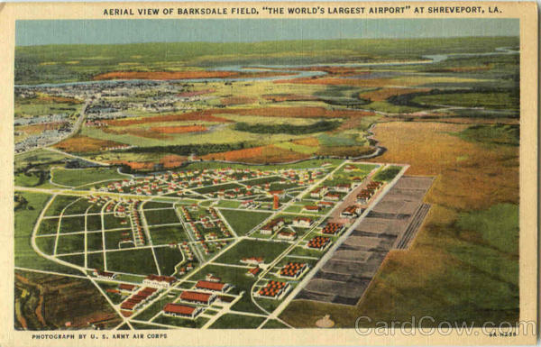Aerial View Of Barksdale Field Shreveport Louisiana