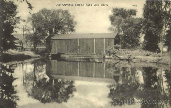 Old Covered Bridge Over Mill Creek Brookline Massachusetts