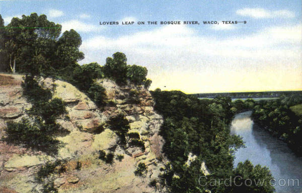 Lovers Leap On The Bosque River Waco Texas
