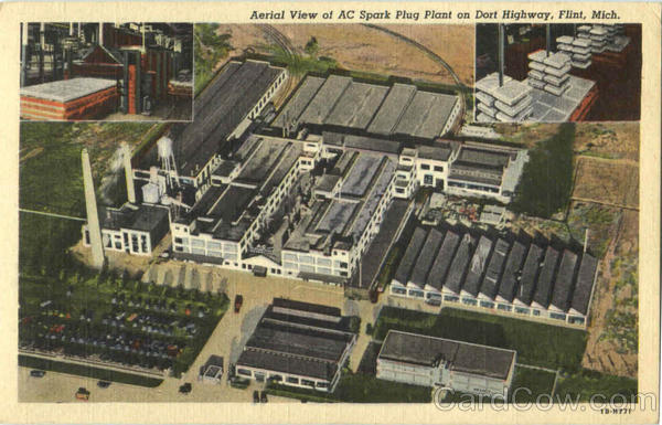 Aerial View Of Ac Spark Plug Plant On Dort Highway Flint Michigan
