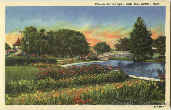 A Beauty Spot, Belle Isle Detroit Michigan