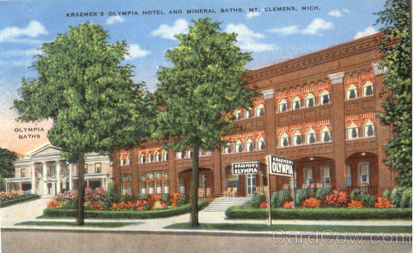 Kraemer's Olympia Hotel And Mineral Baths Mt. Clemens Michigan