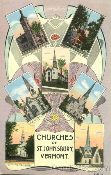 Churches Of St. Johnsbury Vermont