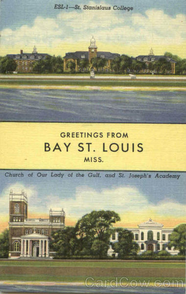 Greetings From St. Louis Bay St. Louis Mississippi