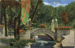 Cobblestone Bridge, Glen Miller Park Postcard