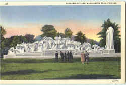 Fountain Of Time, Washiton Park Postcard