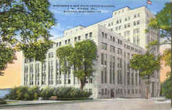 Wisconsin's New State Office Building, 1 W. Wilson St. Postcard