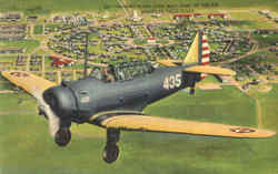 Training Plane Over West Point Of The Air Postcard