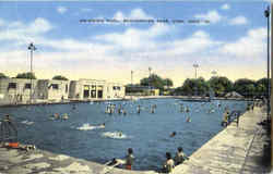 Swimming Pool , Schoonover Park Postcard