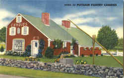 Home Of Putnam Pantry Candies, U. S. Route 1 Postcard