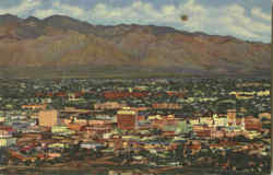 City Of Tucson Seen From A Mountain Postcard