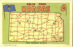Hello From Kansas Postcard