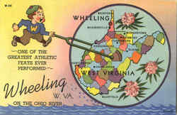 Wheeling On The Ohio River Postcard