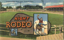 Caldwell Night Rodeo Park Postcard