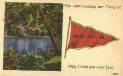 The Surroundings Are Lovely At Gate City Postcard