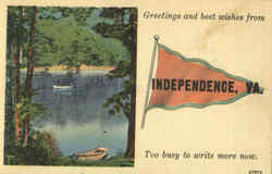Greetings And Best Wishes From Independence
