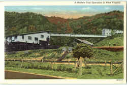A Modern Coal Operation In West Virginia Postcard