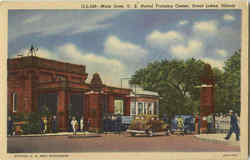 Main Gate U. S. Naval Training Center Postcard