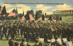 Religious Service And Massing Of The Colors Of 29Th Division
